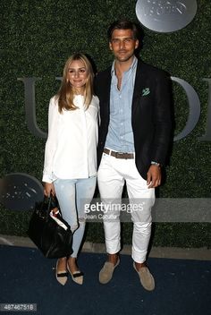 Olivia Palermo and her husband Johannes Huebl attend day ten of the 2015 US Open at USTA Billie Jean King National Tennis Center on September 9, 2015 in the Flushing neighborhood of the Queens...