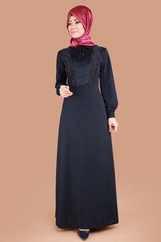 Önü Drapeli Tesettür Elbise Laci Ürün kodu: BRN81480 --> 79.90 TL