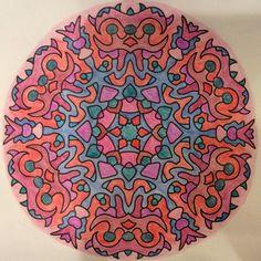 Mandala that I colored. #mandala #coloring
