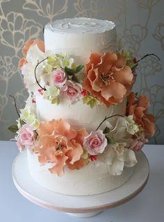 Beautiful Flowers cake by Cake! designer Sarah Small