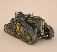 Drawing In steampunk tank fbx