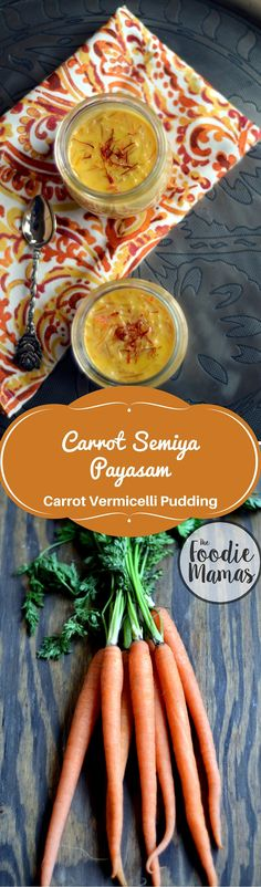 Carrot Semiya Payasam - Carrot Vermicelli Pudding - www.cookingcurries.com