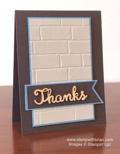 Brick Wall Textured Impressions Embossing Folder, Expressions Natural Elements, Stampin' Up!, Brian King, PPA255