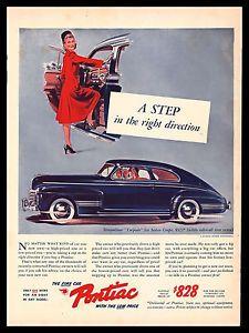 1941 PONTIAC STREAMLINER TORPEDO Car Vintage Look Metal Sign MOTORCYCLE COP