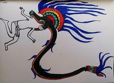 Dibujo estilo tolteca