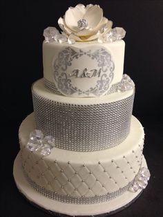 Wedding bling cake