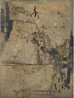 Tàpies, 'Gran Ocra amb Incisions', 1961. Mixed media on canvas, 260 x 195cm