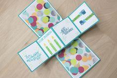 Pop-Up Panel Card zum Geburtstag mit Produkten von Stampin up
