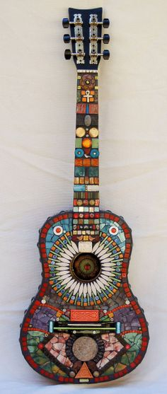 Mosaic guitar Funky Music by NikkiSullivanMosaics on Etsy--this thing is gorgeous !