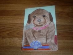 Drawing a puppy.