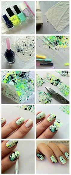 nail art diy splatter nails tutorial how to nagellack nail polish