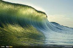 Clear ocean wave.