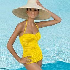 Jantzen Vamp Maillot One Piece Bathing Suit Buttercup