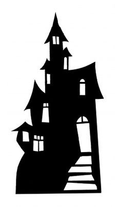 Cool haunted house for wall decoration