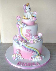 - Unicorn Cake Bolos Unicórnio Cakes Licorne K?e Pasteles Mga Happy Birthday Kuchen, Birthday Cake Girls, Unicorn Birthday Parties, Unicorn Party, Pony Cake, Savoury Cake, Cute Cakes, Party Cakes, Cake Designs