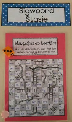 Sigwoorde Letter Activities, Kindergarten Worksheets, Classroom Activities, Afrikaans Language, Jolly Phonics, Teaching Aids, Kids Education, Kids Learning, Lesson Plans
