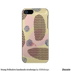 Stamp Polkadots handmade siradesign Incipio Feather® Shine iPhone 5 Hülle Iphone 5, Feather, Polka Dots, Stamp, Phone Cases, Handmade, Design, Hand Made, Quill