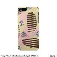 Stamp Polkadots handmade siradesign Incipio Feather® Shine iPhone 5 Hülle