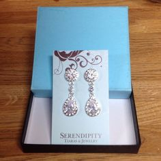 Earrings Crystal CZ teardrop dangle earrings...please ask questions..thankyou Serendipity Jewelry Earrings