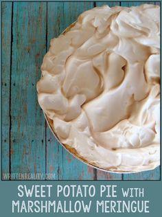 Sweet Potato Pie with Marshmallow Meringue {writtenreality.com}