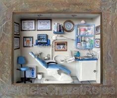 Love it!! Miniature Dental Office Room Box, excellent detail. 1/12 scale.
