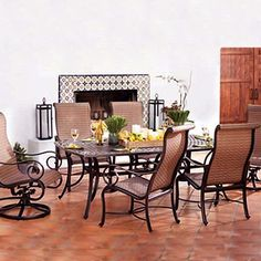 Awesome Cast Aluminum Patio Furniture | Elyse Cast Aluminum Sling Patio Groupings   American  Sale