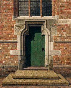 zuidingang romano-gotische kerk te Loppersum, Gr, 1973