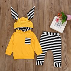 MUQGEW Fashion baby clothes set winter clothes for children Striped Hooded T shirt Tops+Pants newborn baby boy roupas meni Stylish Baby Clothes, Newborn Boy Clothes, Baby Boy Newborn, Baby Boys, Baby Boy Fashion, Toddler Fashion, Kids Fashion, Fashion Design, Fashion Clothes