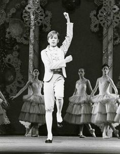 Peter Boal as a child in the New York City Ballet's production of Balanchine's The Nutcracker, late 1970s. He is doing the Prince's mime speech at the beginning of Act II, taught to him by Balanchine himself.