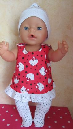 Baby Girl Dress Patterns, Doll Clothes Patterns, Clothing Patterns, Baby Dress, Baby Born Clothes, Bitty Baby Clothes, Child Doll, Girl Dolls, Baby Pop