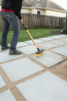 Diy Concrete Patio, Diy Patio, Backyard Patio Designs, Backyard Walkway, Backyard Pavilion, Backyard Seating, Outdoor Landscaping, Landscaping Ideas, Backyard Ideas