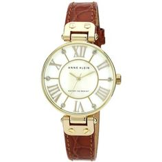 Anne Klein Croc Embossed Leather Strap Watch, (Save Now through Large Face Watches, Anne Klein Watch, Casual Watches, Tan Leather, Michael Kors Watch, Crocs, Lady In Red, Jewelry Watches, Women's Watches