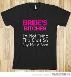 Buying this to give to my friends to let them know i want them to be a brides maid