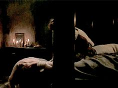 Claire & Jamie's spanking scene: Claire kicks Jamie in the face | Outlander S1bE9 'The Reckoning' on Starz