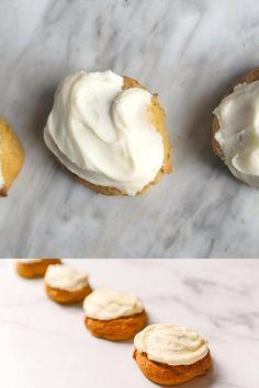 Soft Pumpkin Cookie Recipe, Iced Pumpkin Cookies, Cream Cheese Cookie Recipe, Fall Dessert Recipes, Fall Desserts, Candy Recipes, Fall Cookie Recipes, Dessert Ideas, Yummy Treats