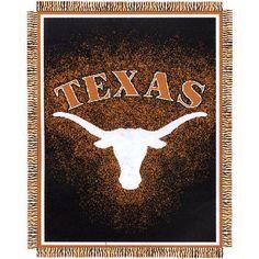 """NCAA Texas Longhorns 48""""x60"""" Jacquard Acrylic Throw"""