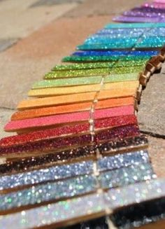 glitter clothes pins with magnets for photos