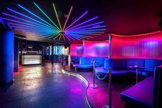 Azure Nightclub in Enfield. by Tibbatts Abel - London Interior Designers. Azure Nightclub in Enfield Restaurant Lighting, Restaurant Concept, Restaurant Design, Nightclub Bar, Nightclub Design, Night Club Dance, Night Bar, Club Lighting, Lounge Design