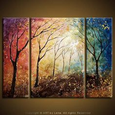 Maybe these background colors but one tree in the center?