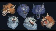 ArtStation - Wolfpack, Mac Smith Creatures 3, Creature Design, Zoo Animals, Illustration Art, Character Design, Concept, Artwork, Mac, Characters