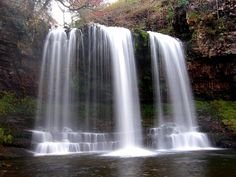 Waterfall In The Brecon Beacons, Wales, UK