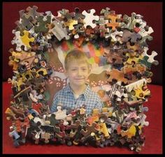 Make a frame with your kids for Fathers day!! You can use things you already have in your house.