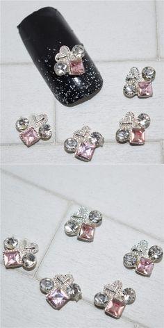 10psc New Purple rhinestone 3D Nail Art Decorations,Alloy Nail Charms,Nails Rhinestones  Nail Supplies #235