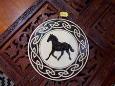 6.5 Horse Pyrography Art  Wood Art Horse Wall Art