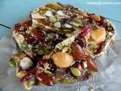 Autumn Brittle-almonds, cashews, pumpkin seeds and cranberries make this a delicious treat perfect for fall!!