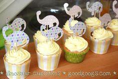 Dinosaur Cup Cakes