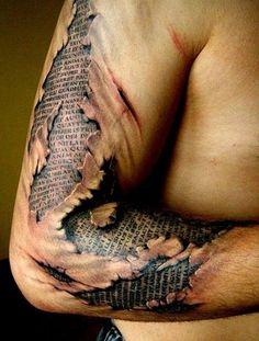 Badass ripped skin tattoos that'll blow your mind! | INKEDD