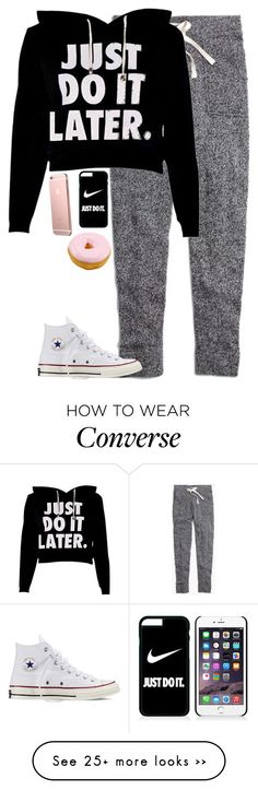 """""""Man just do it later"""" by hagor423 on Polyvore featuring moda, Madewell, NIKE e Converse"""