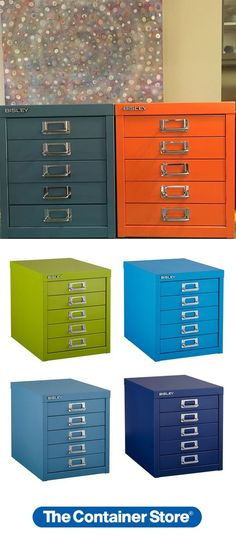 Our Bisley Cabinet comes in so many fun colors! It's perfect in a craftroom or office. Guest Room Office, Home Office, Storage Organization, Locker Storage, Organizing, Space Crafts, Craft Space, Custom Closets, Workplace Design