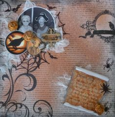 Haunted **DT Work for Paper Mixing Bowl** October Recipe - Scrapbook.com